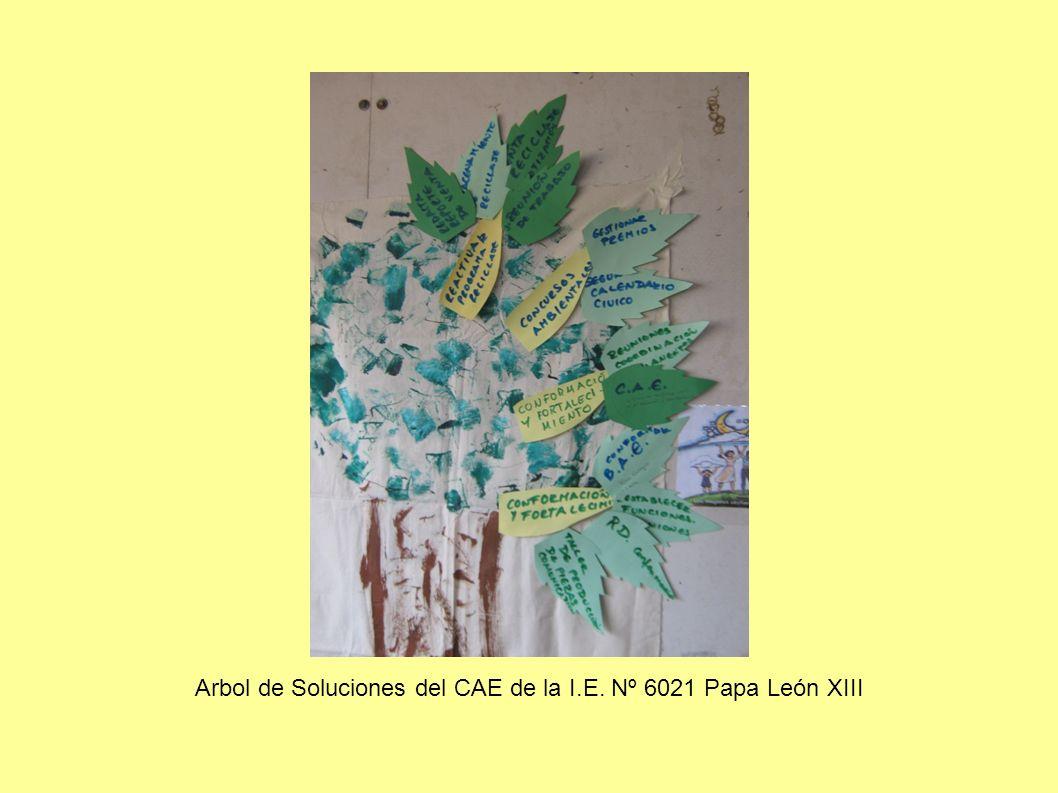 Arbol de Soluciones del CAE de la I.E. Nº 6021 Papa León XIII