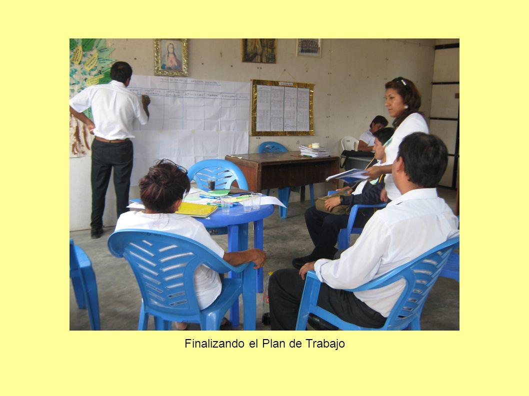 Finalizando el Plan de Trabajo
