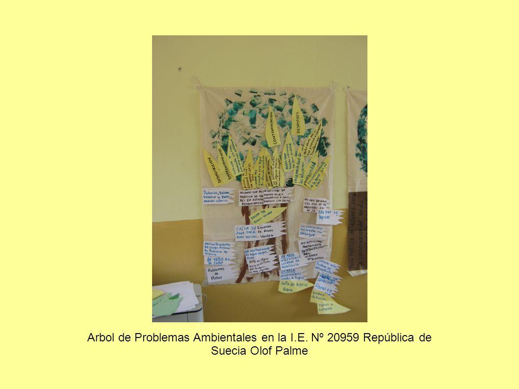 Arbol de Problemas Ambientales en la I.E. Nº 20959 República de Suecia Olof Palme