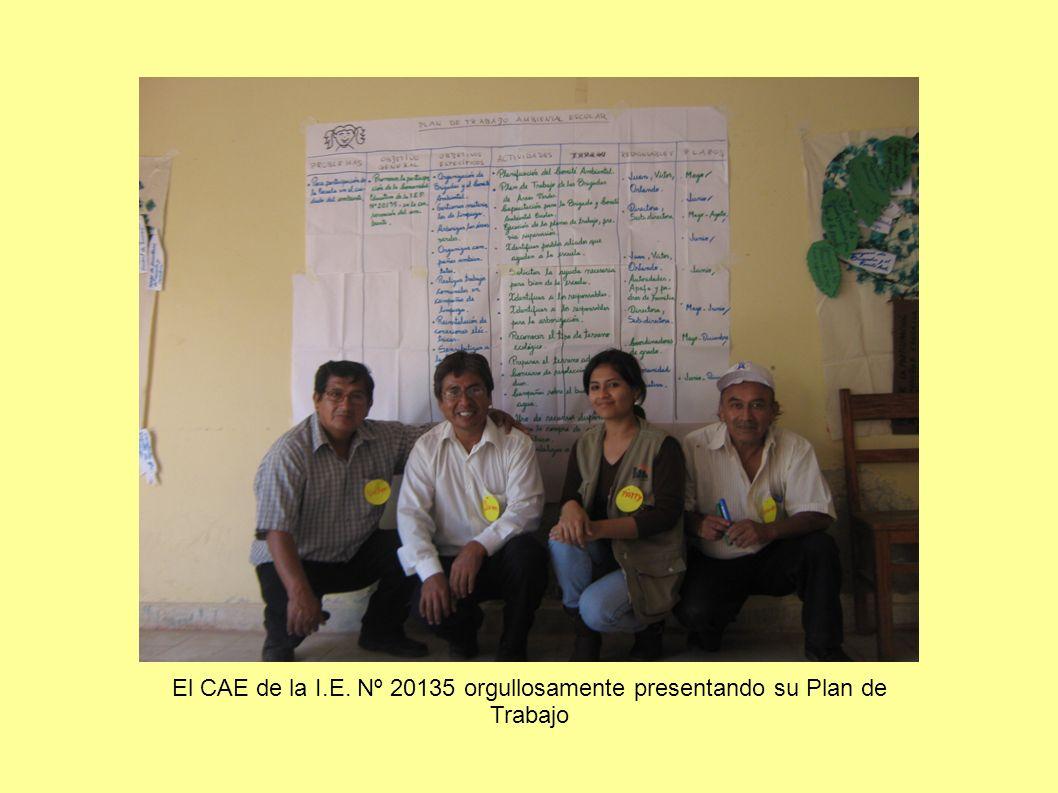 El CAE de la I.E. Nº 20135 orgullosamente presentando su Plan de Trabajo