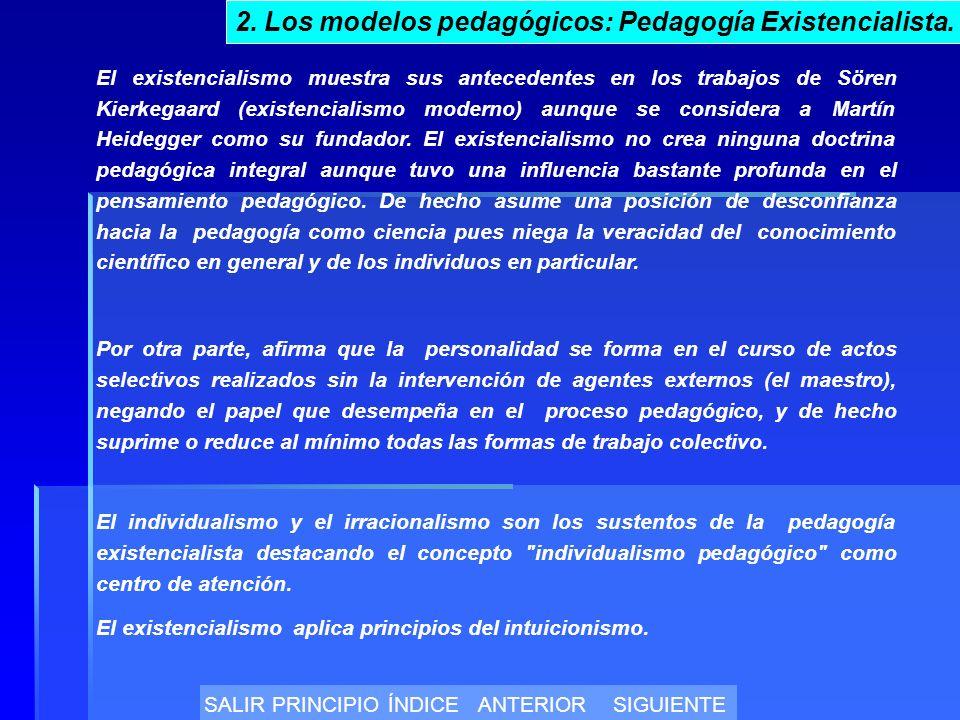 El existencialismo muestra sus antecedentes en los trabajos de Sören Kierkegaard (existencialismo moderno) aunque se considera a Martín Heidegger como su fundador.