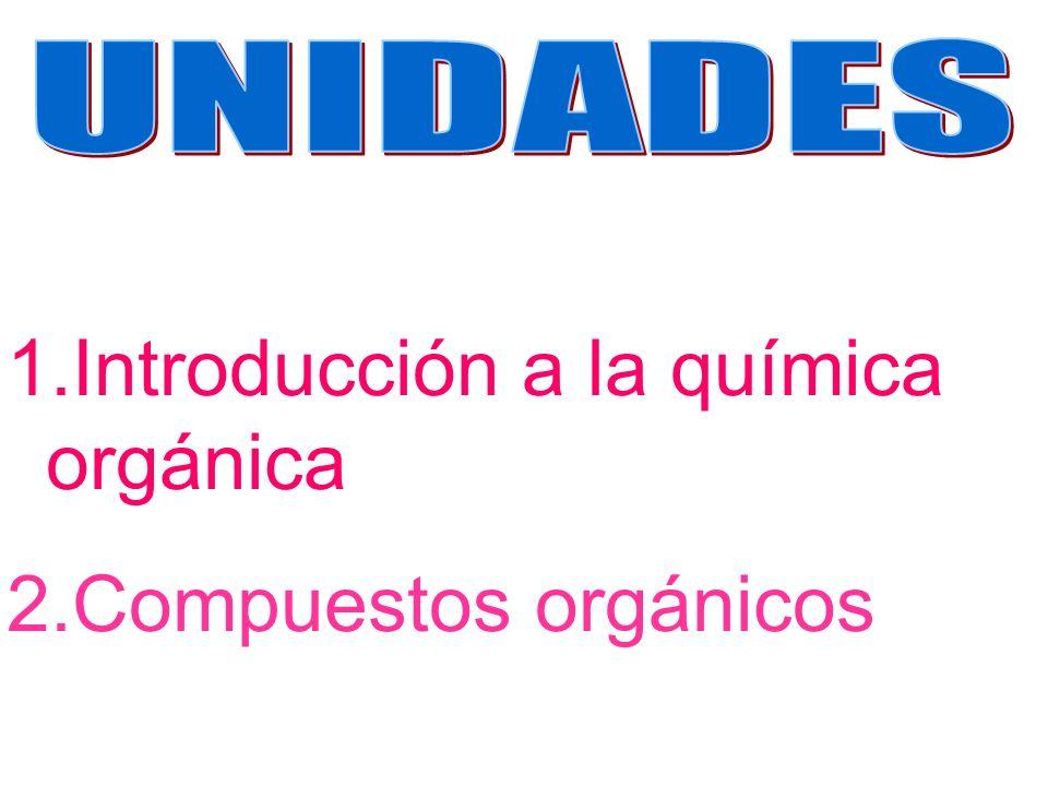 1.Introducción a la química orgánica 2.Compuestos orgánicos