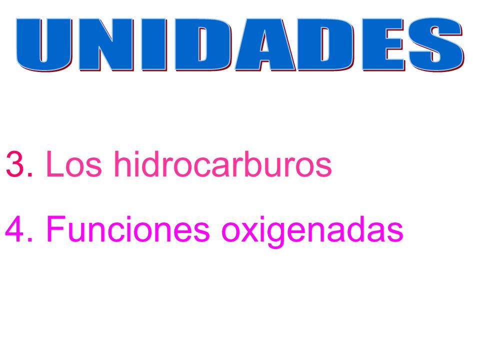 3. Los hidrocarburos 4. Funciones oxigenadas