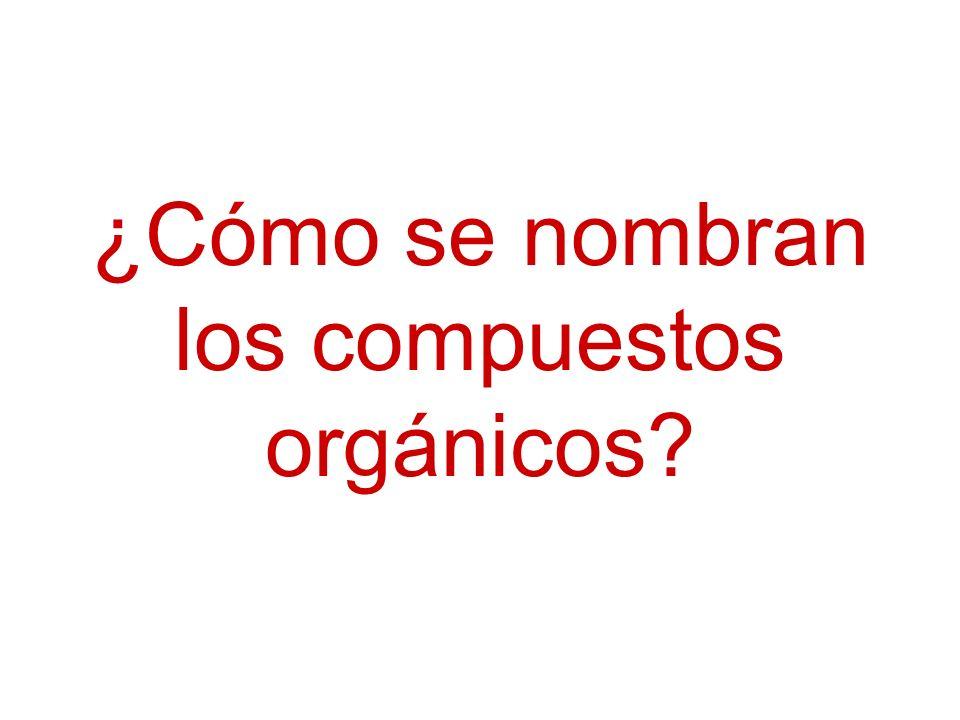 ¿Cómo se nombran los compuestos orgánicos?