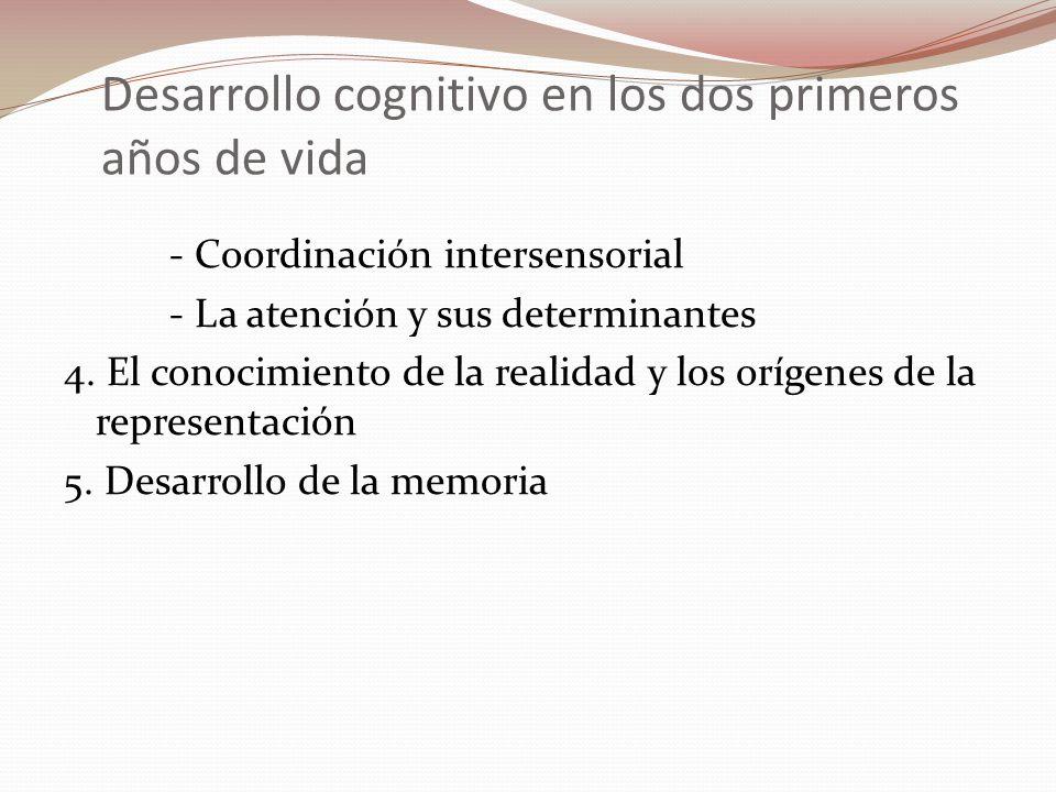 Desarrollo cognitivo en los dos primeros años de vida - Coordinación intersensorial - La atención y sus determinantes 4. El conocimiento de la realida