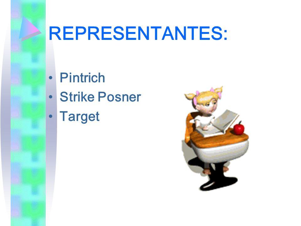 REPRESENTANTES: Pintrich Strike Posner Target