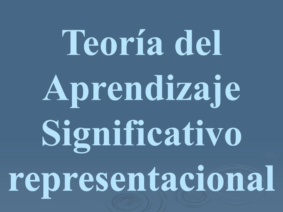 Teoría del Aprendizaje Significativo representacional representacional