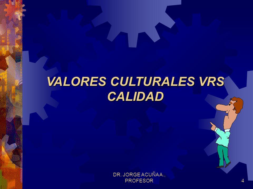 DR. JORGE ACUÑA A., PROFESOR4 VALORES CULTURALES VRS CALIDAD