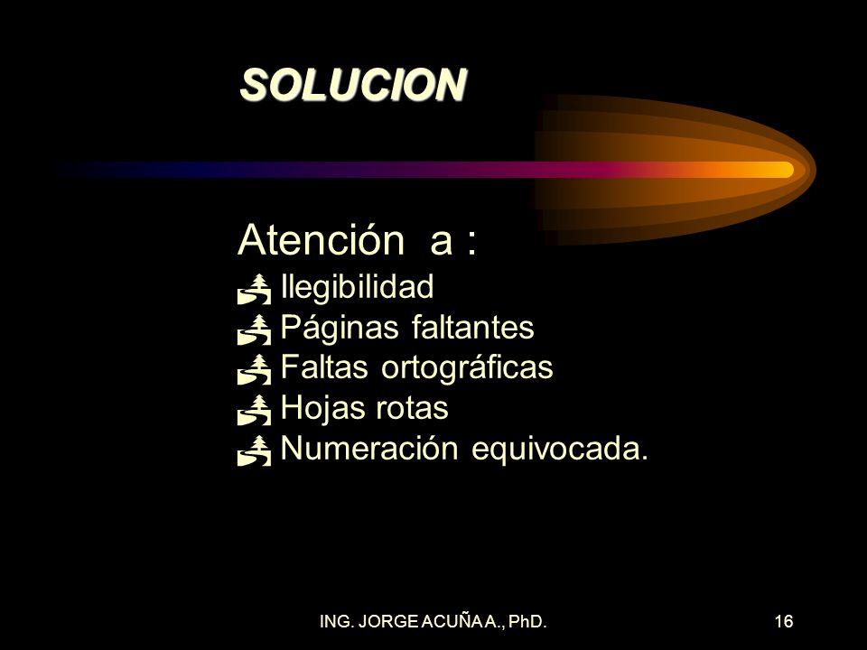 ING. JORGE ACUÑA A., PhD.15