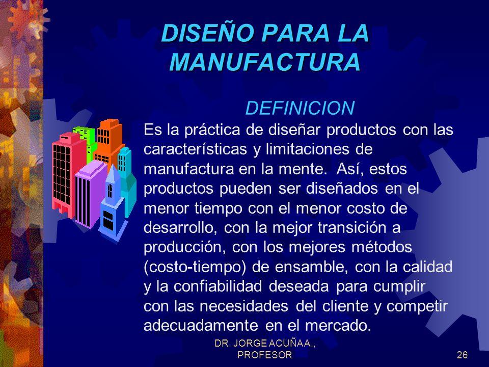DR. JORGE ACUÑA A., PROFESOR25 DOCUMENTACION Documentos esenciales Procedimientos Manuales de funciones Instrucciones de trabajo Diagramas de flujo Es
