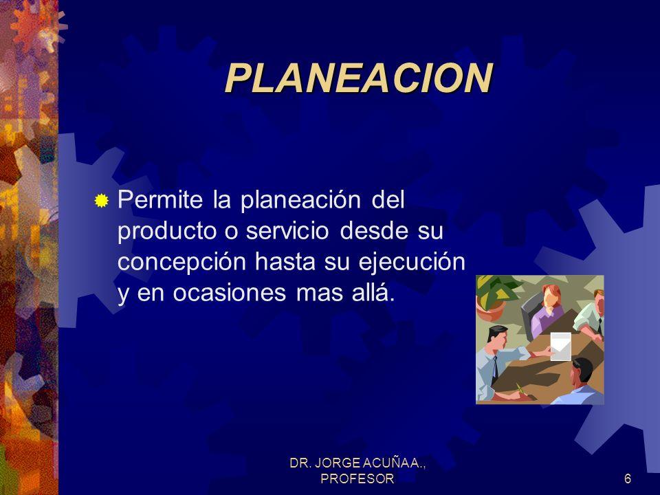 DR.JORGE ACUÑA A., PROFESOR56 Uso de plantillas que representan las matrices.