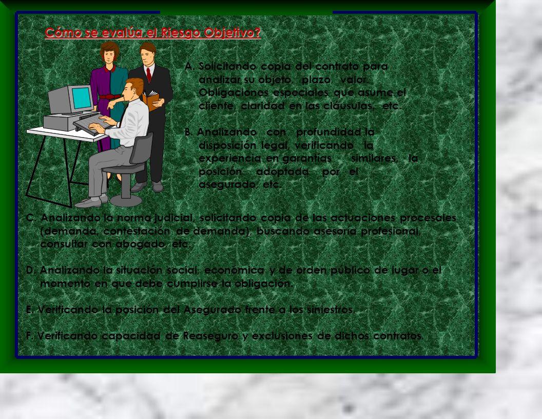 A. Solicitando copia del contrato para analizar su objeto, plazo, valor. Obligaciones especiales que asume el cliente, claridad en las cláusulas, etc.