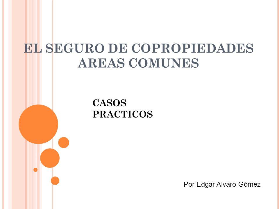 EL SEGURO DE COPROPIEDADES AREAS COMUNES CASOS PRACTICOS Por Edgar Alvaro Gómez
