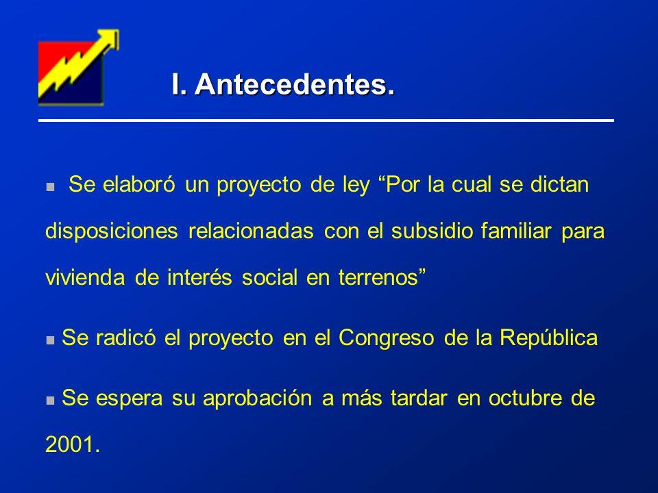 II.Objetivo del proyecto de ley.
