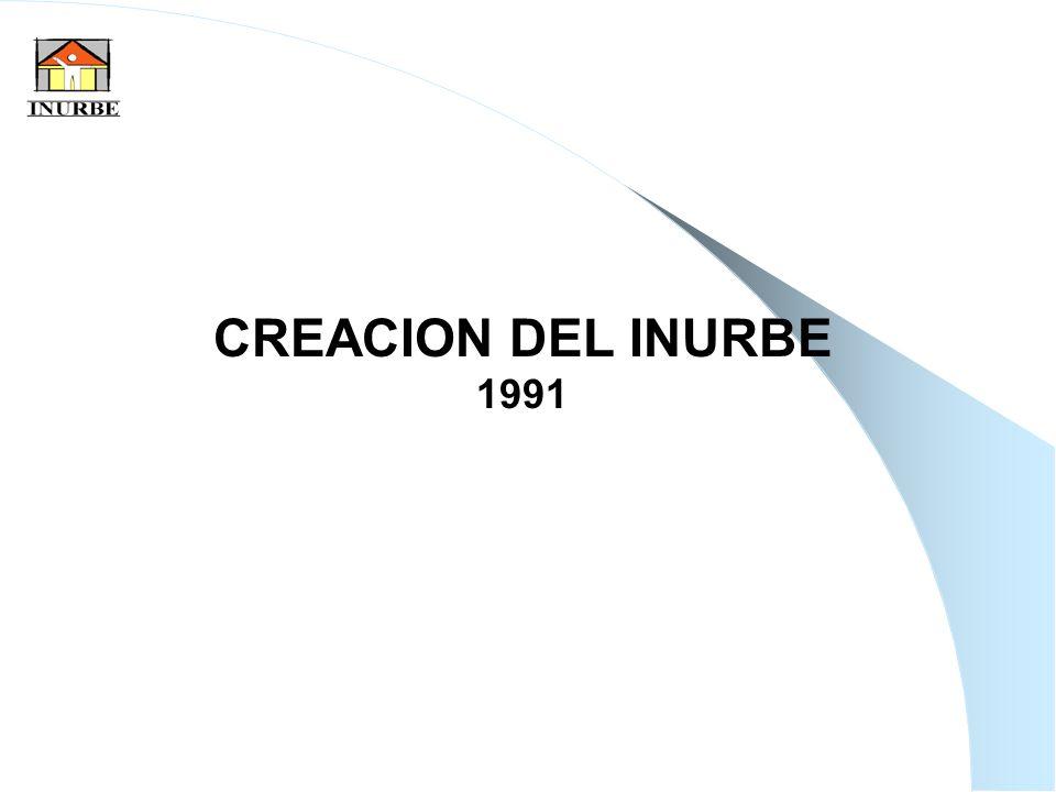 11 CREACION DEL INURBE 1991
