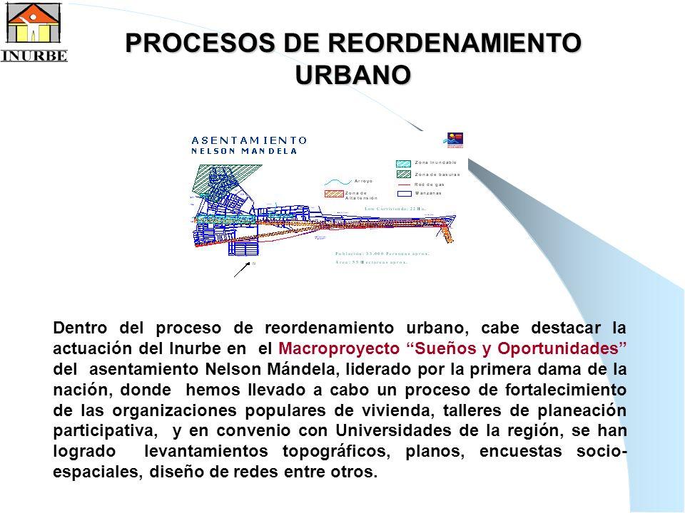 18 Dentro del proceso de reordenamiento urbano, cabe destacar la actuación del Inurbe en el Macroproyecto Sueños y Oportunidades del asentamiento Nels