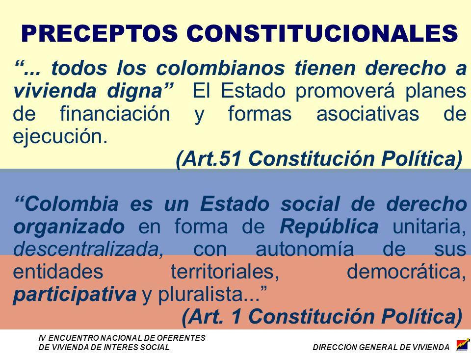 DIRECCION GENERAL DE VIVIENDA IV ENCUENTRO NACIONAL DE OFERENTES DE VIVIENDA DE INTERES SOCIAL...