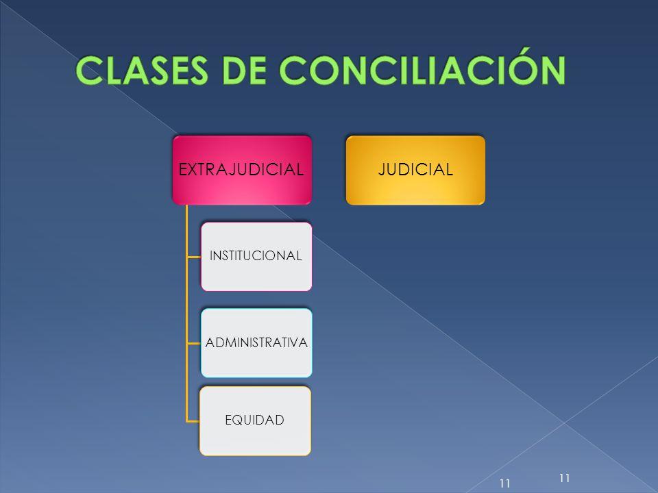 EXTRAJUDICIAL INSTITUCIONALADMINISTRATIVAEQUIDAD JUDICIAL 11