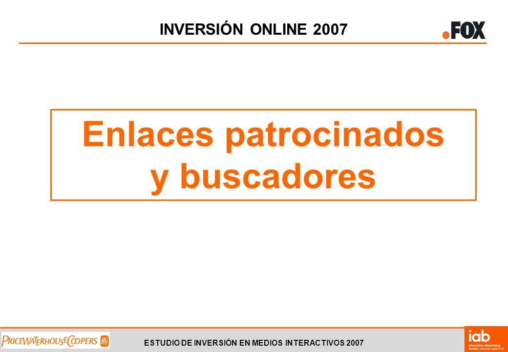 ESTUDIO DE INVERSIÓN EN MEDIOS INTERACTIVOS 2007 INVERSIÓN ONLINE 2007 Enlaces patrocinados y buscadores
