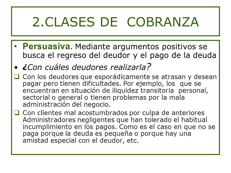 2.CLASES DE COBRANZA Persuasiva.