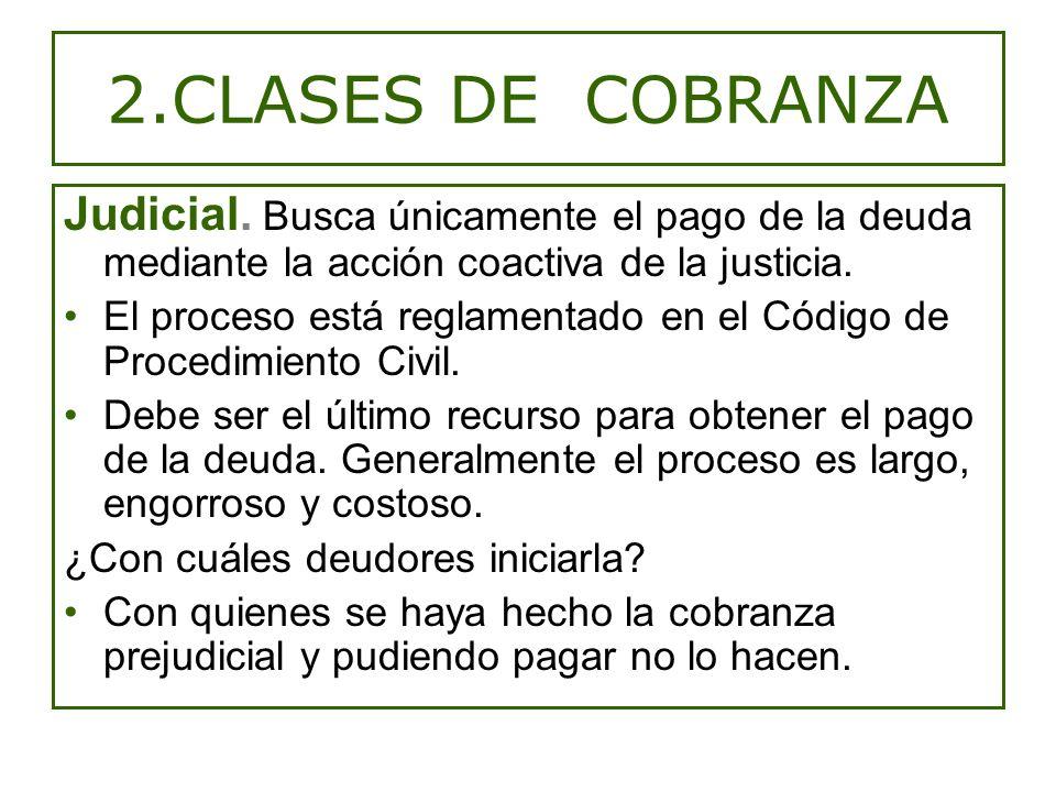 2.CLASES DE COBRANZA Judicial.