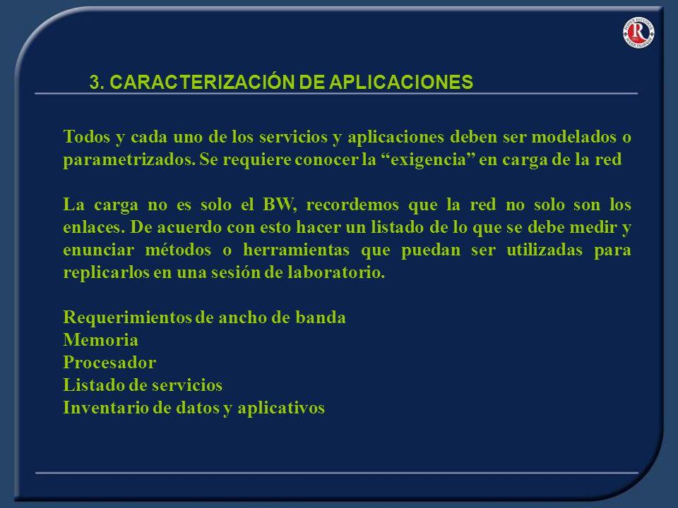 Todos y cada uno de los servicios y aplicaciones deben ser modelados o parametrizados.