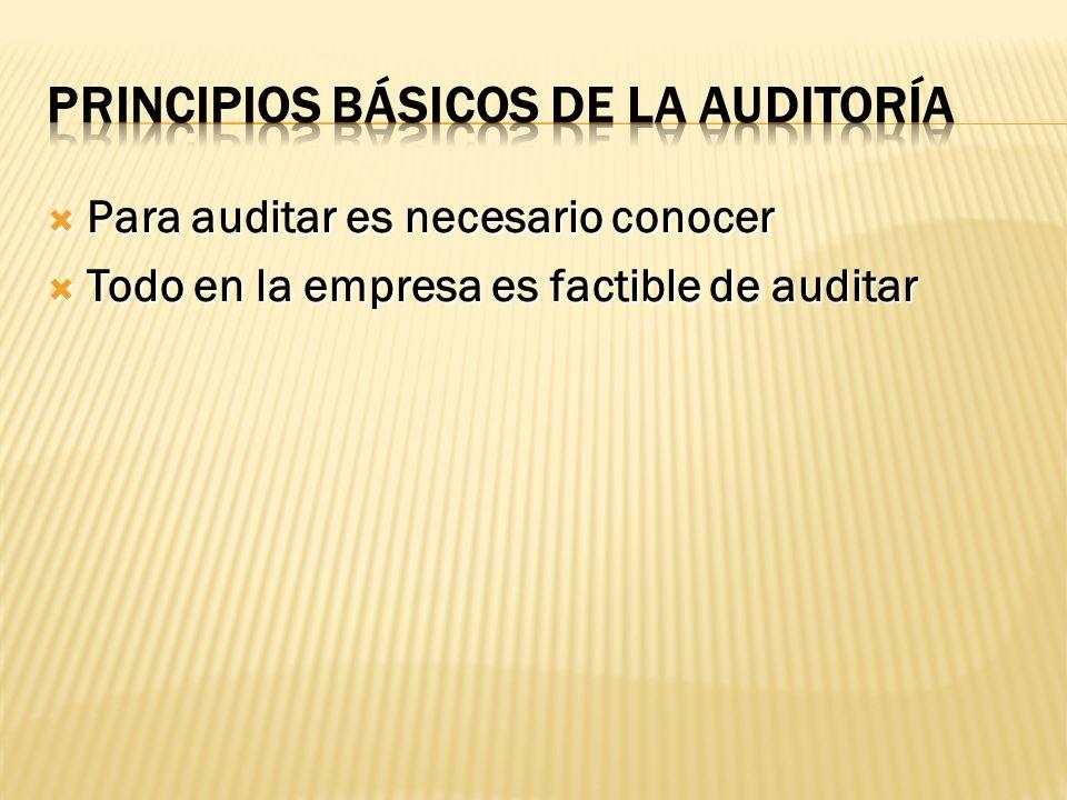 Todo en la empresa es factible de auditar Todo en la empresa es factible de auditar