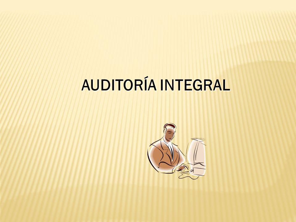 AUDITORÍA INTEGRAL