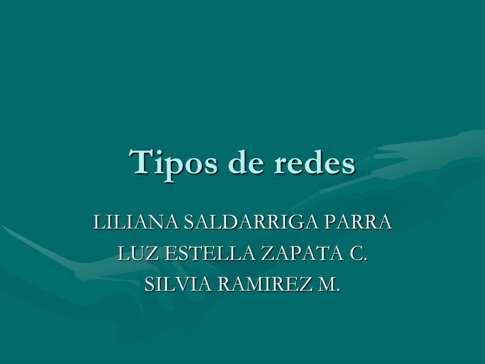 Tipos de redes LILIANA SALDARRIGA PARRA LUZ ESTELLA ZAPATA C. SILVIA RAMIREZ M.