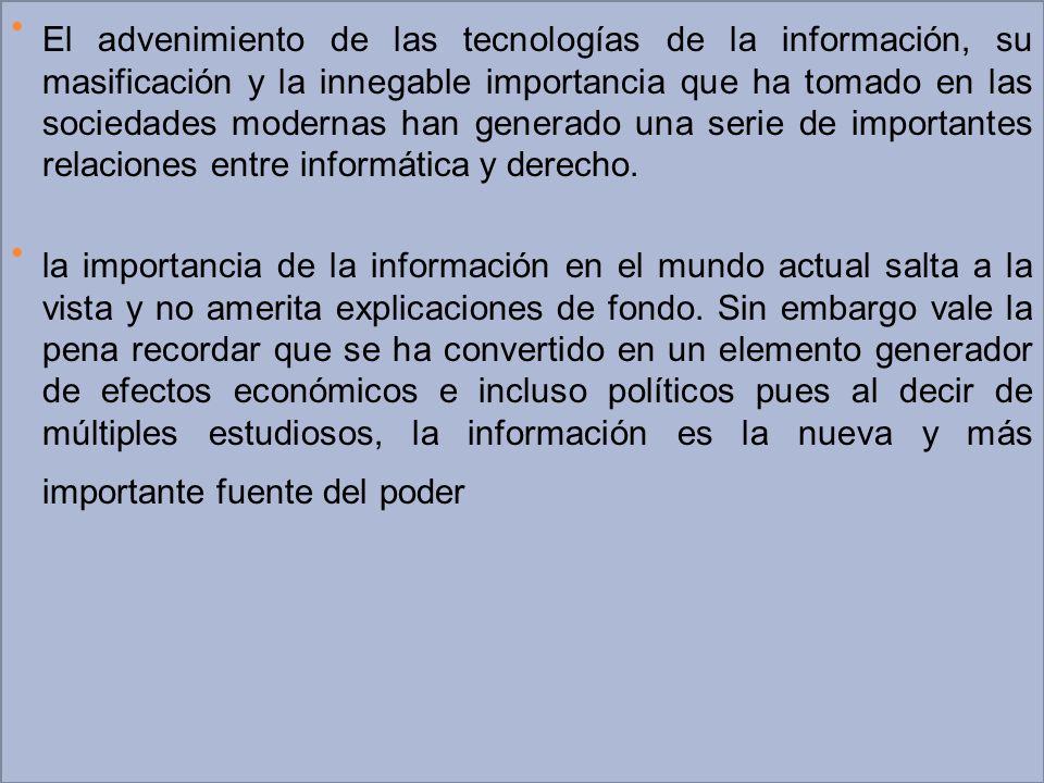 Relaciones entre informática y derecho.