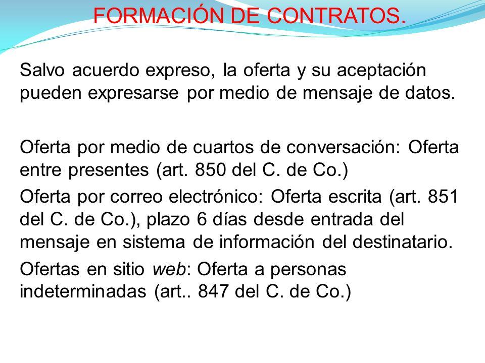 FORMACIÓN DE CONTRATOS.