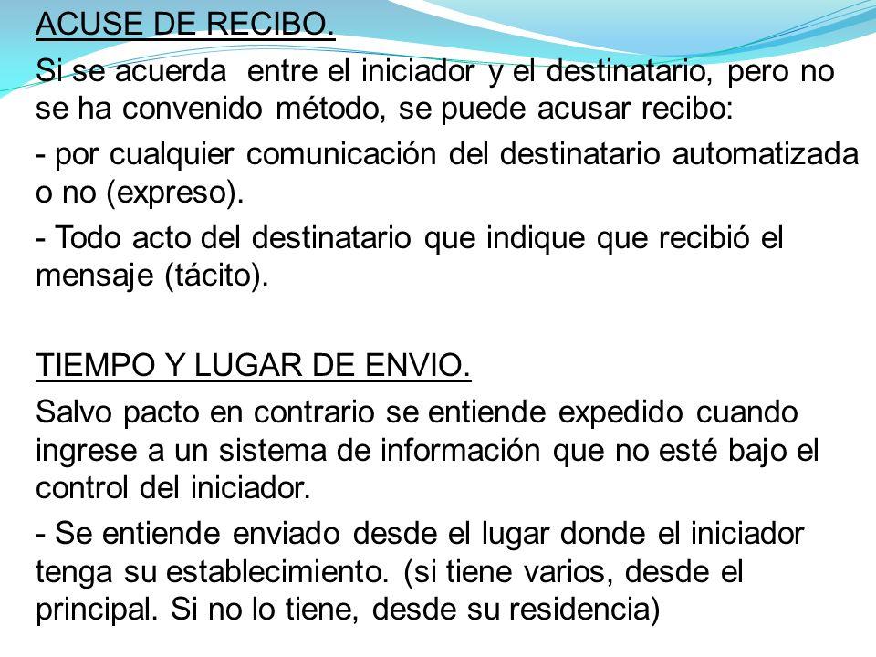 ACUSE DE RECIBO.