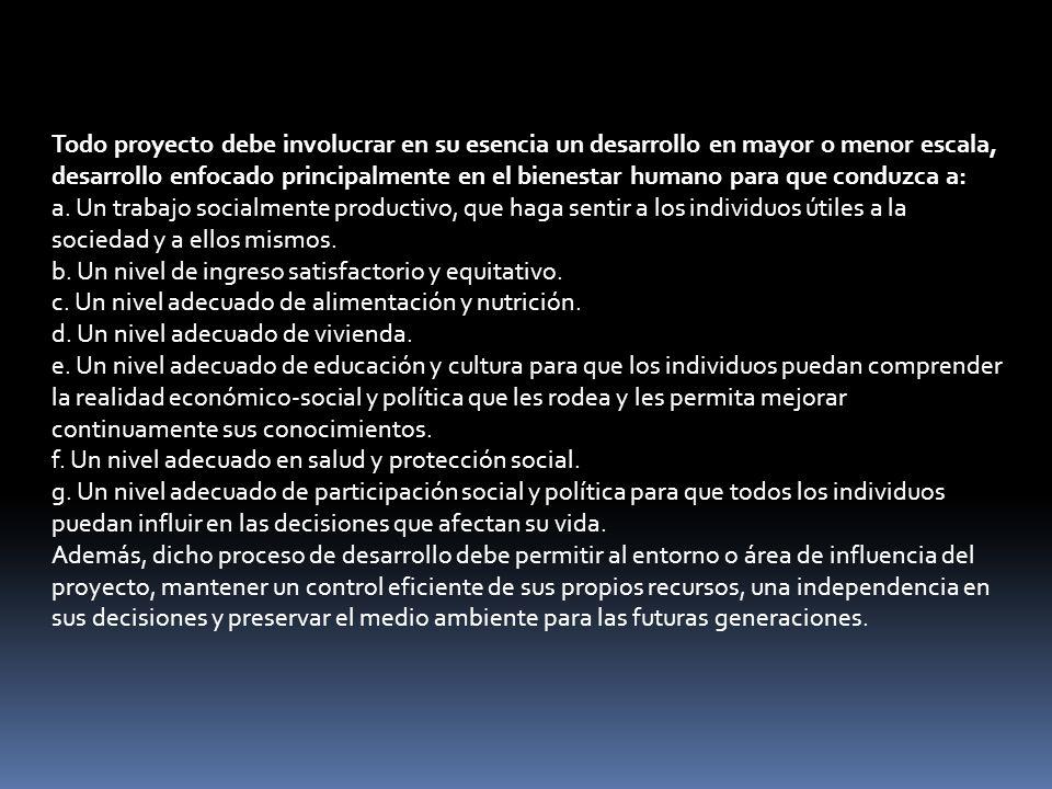 Clasificación de los proyectos Según su carácter Los proyectos se pueden clasificar en: Sociales.