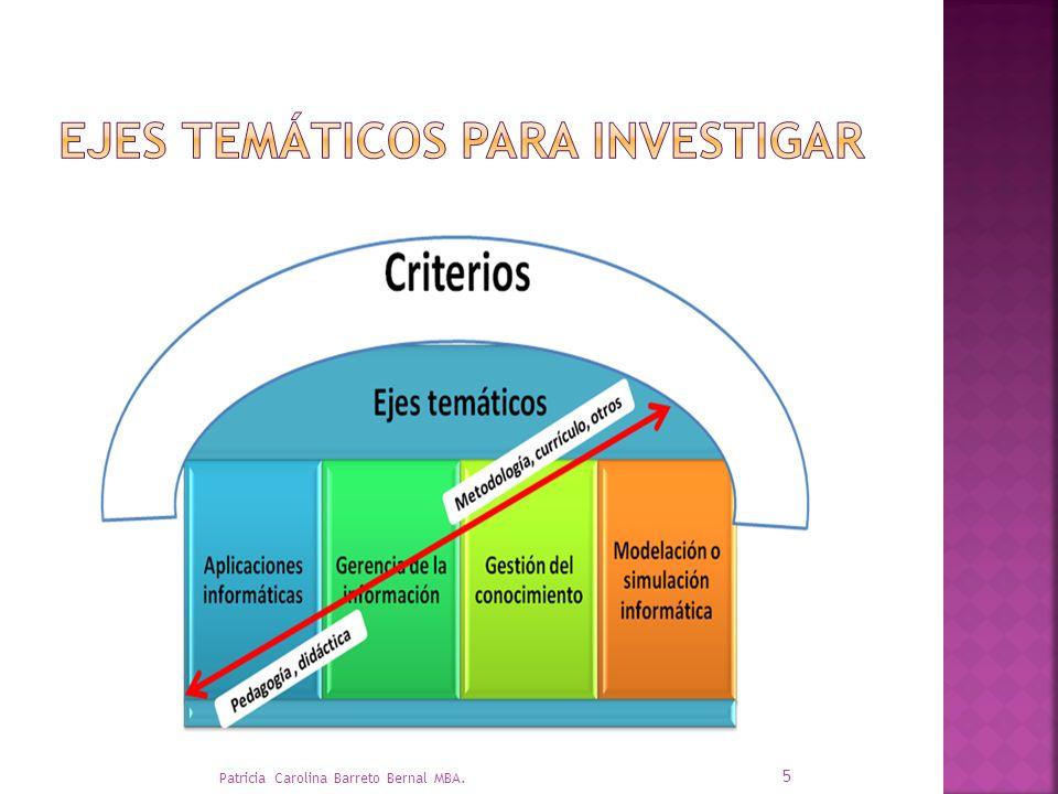 Seminario 1 Propuesta Seminario 2 Anteproyecto Seminario 3 Intervención COHERENCIA – SECUENCIA- PROCESO- RESULTADO 6 Patricia Carolina Barreto Bernal MBA.