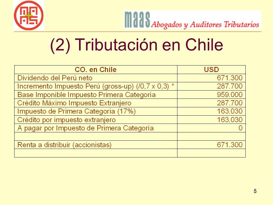 5 (2) Tributación en Chile