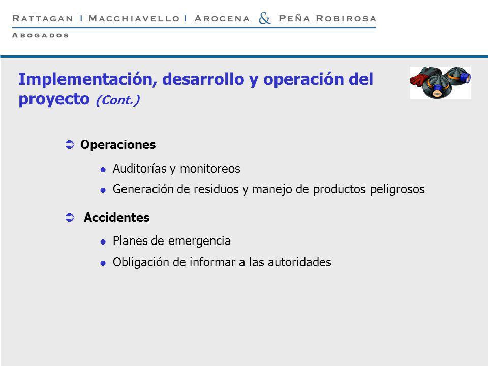 P 7 © Rattagan Macchiavello Arocena & Peña Robirosa, 2005 Operaciones Auditorías y monitoreos Generación de residuos y manejo de productos peligrosos
