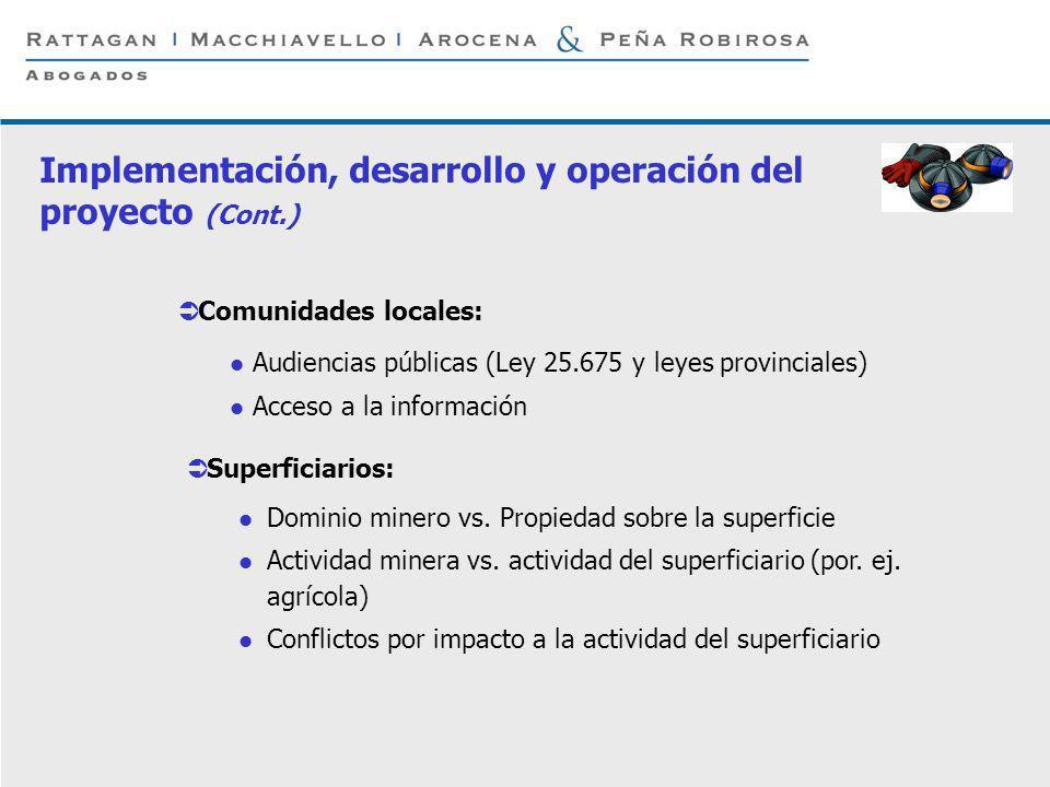 P 8 © Rattagan Macchiavello Arocena & Peña Robirosa, 2005 Comunidades locales: Audiencias públicas (Ley 25.675 y leyes provinciales) Acceso a la infor