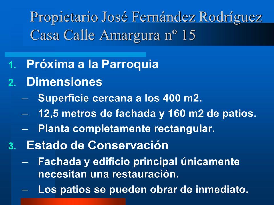 Propietario José Fernández Rodríguez Casa Calle Amargura nº 15 1.