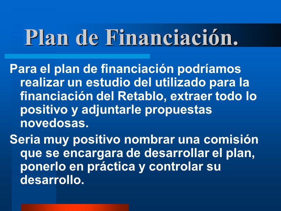 Plan de Financiación.