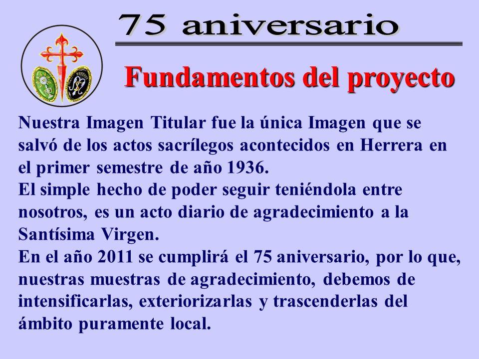 Fundamentos del proyecto Nuestra Imagen Titular fue la única Imagen que se salvó de los actos sacrílegos acontecidos en Herrera en el primer semestre