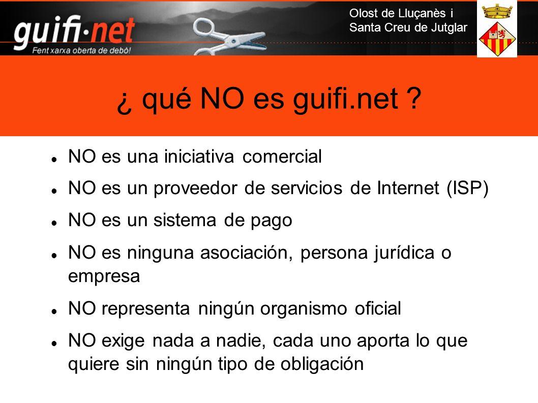 Olost de Lluçanès i Santa Creu de Jutglar NO es una iniciativa comercial NO es un proveedor de servicios de Internet (ISP) NO es un sistema de pago NO