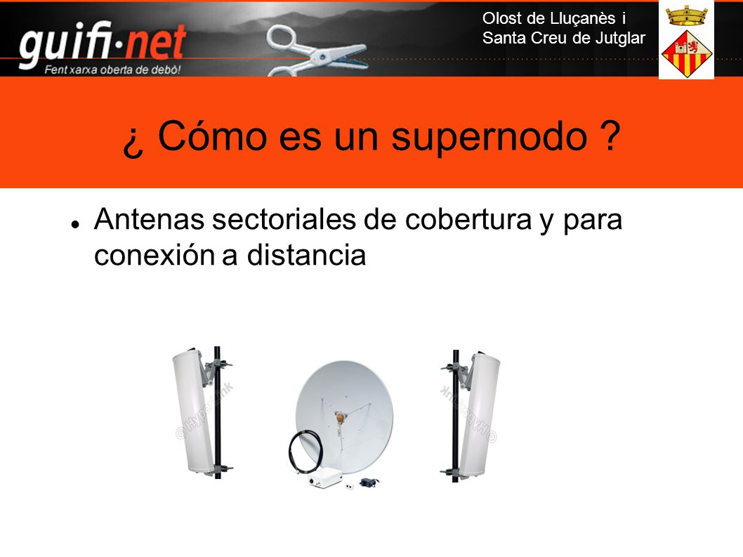 Olost de Lluçanès i Santa Creu de Jutglar Antenas sectoriales de cobertura y para conexión a distancia ¿ Cómo es un supernodo ?