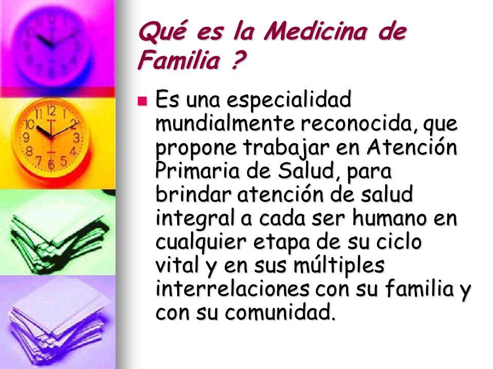 Qué es la Medicina de Familia .