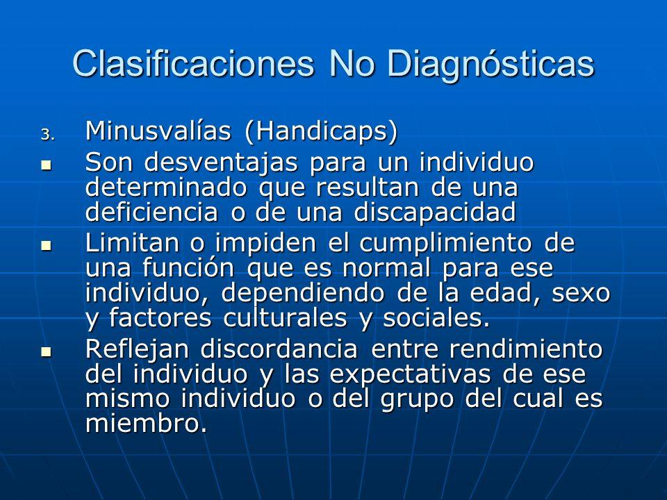Clasificaciones No Diagnósticas 3.