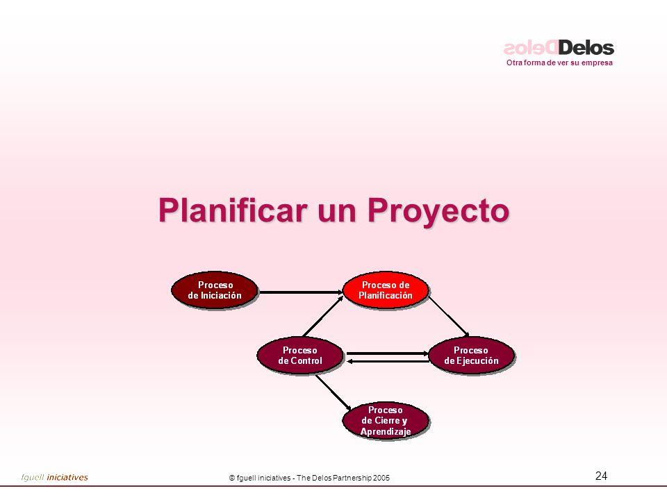 Otra forma de ver su empresa © fguell iniciatives - The Delos Partnership 2005 24 Planificar un Proyecto