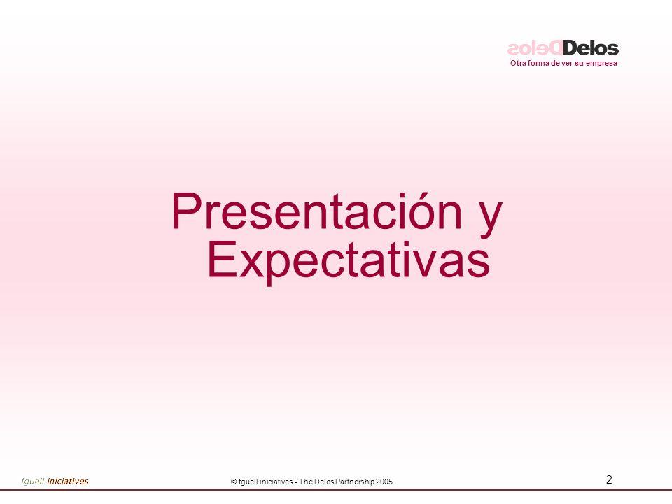 Otra forma de ver su empresa © fguell iniciatives - The Delos Partnership 2005 2 Presentación y Expectativas