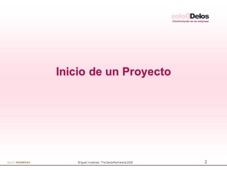 Otra forma de ver su empresa © fguell iniciatives - The Delos Partnership 2005 2 Inicio de un Proyecto