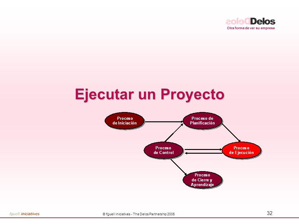 Otra forma de ver su empresa © fguell iniciatives - The Delos Partnership 2005 32 Ejecutar un Proyecto