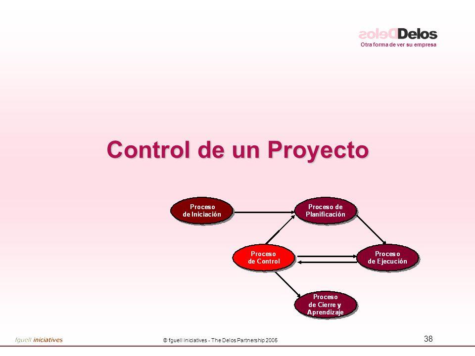 Otra forma de ver su empresa © fguell iniciatives - The Delos Partnership 2005 38 Control de un Proyecto