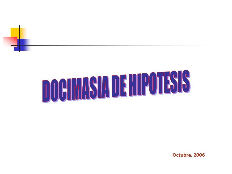 Definiciones Docimasia Ensayo o prueba Hipótesis Proposición que establece relación entre los hechos Es una proposición anunciada para responder tentativamente a un problema .